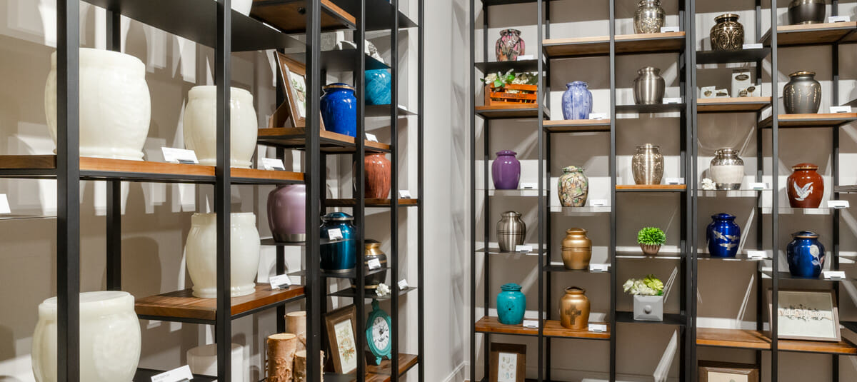 White Lily Urns Showroom